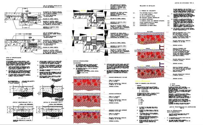 Constructive details to concrete stables dwg files