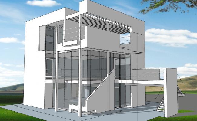 Contemporary Glass House