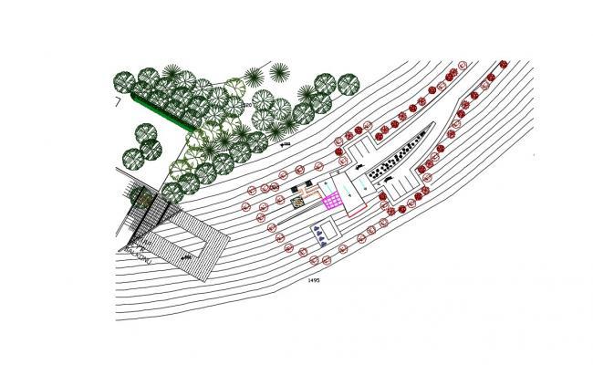 Contemporary House Design In AutoCAD File