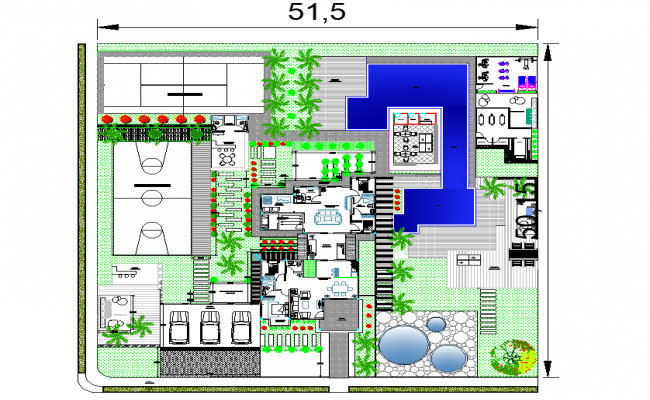 Contemporary housing plan detail autocad file