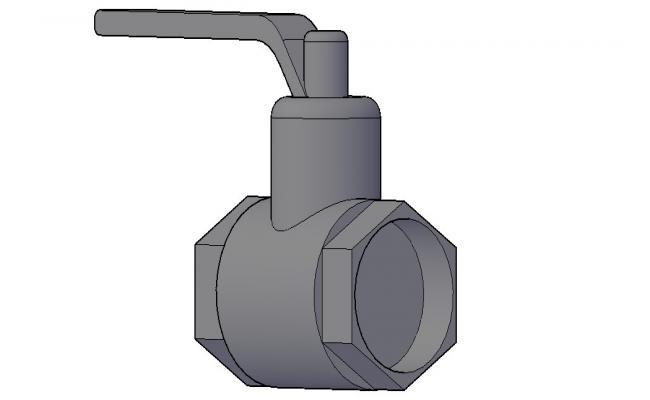Control Valve 3D Model In DWG File