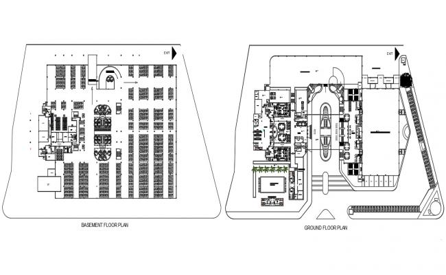 Convention Center Building CAD Drawing