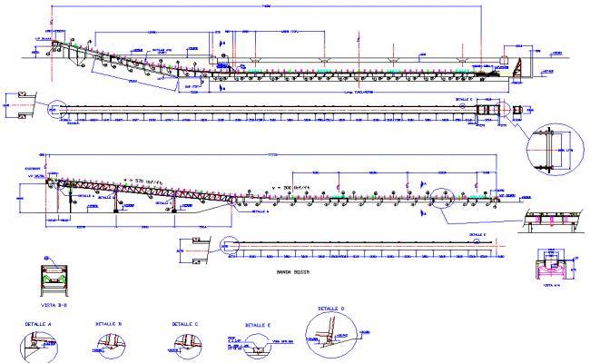 Conveyor system plan detail