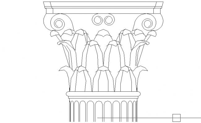 Stone Elevation Cad : Corinthian capital