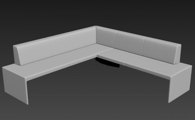 Corner Sofa Set 3D MAX File Free Download