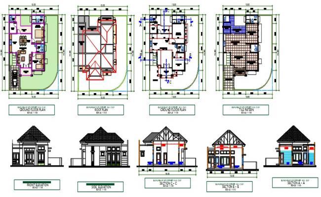 Corner type house