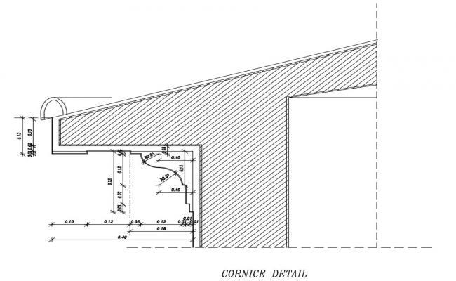 Cornice Detail Drawing