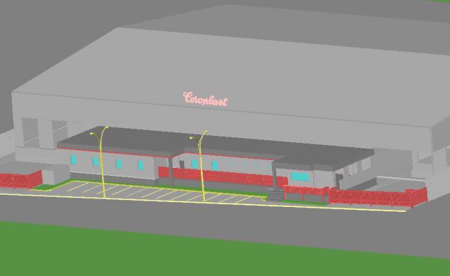 Coro plats plant 3 D plan detail dwg file