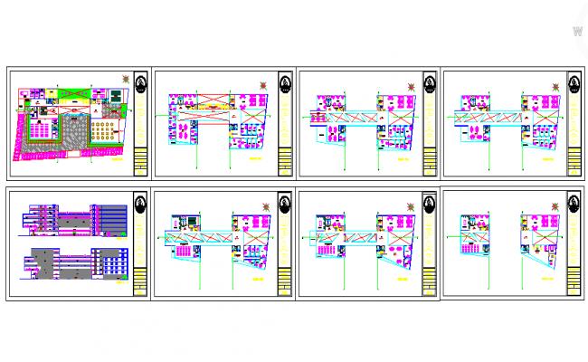 Corporate Building Autocad file Detail