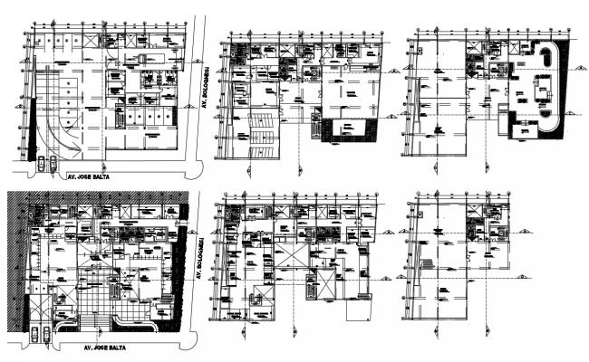 Corporate Building Layout Plan DWG