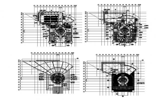 Corporate Office Building Floor CAD Drawing