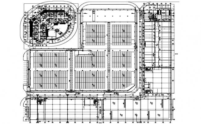 Corporate Office Building Floor Plan DWG File