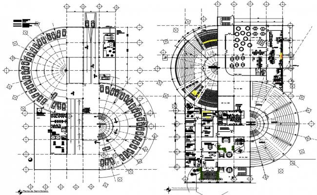 Corporate Office Building Project DWG File