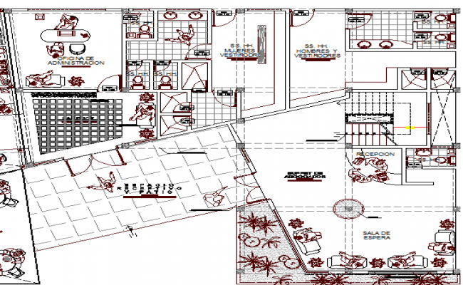 Corporate Office Design and Structure Details dwg file