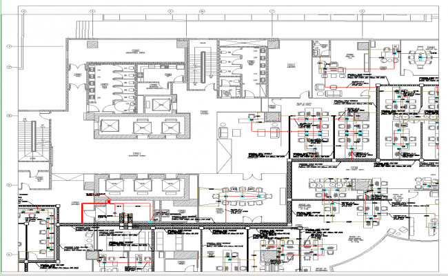 Corporate Office WorkStation Layout plan