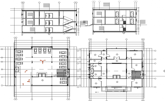 Corporate Project detail view autocad file