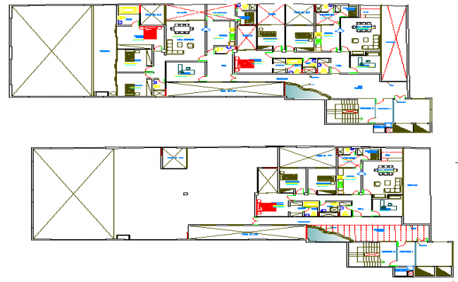 Corporate bank architecture layout plan details dwg file