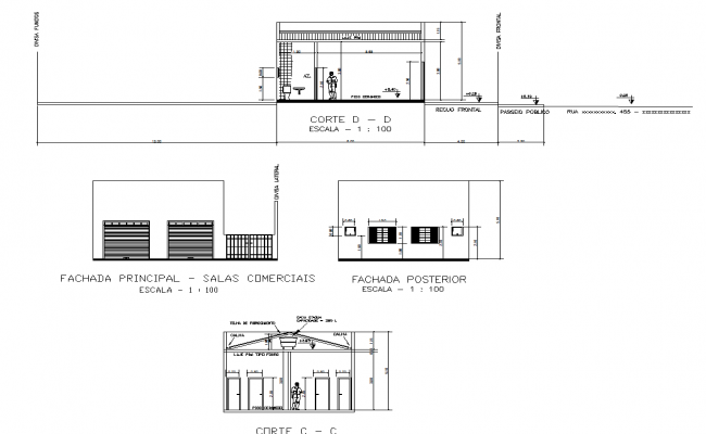 Corporate building elevation details