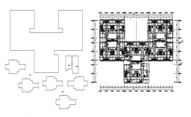 Corporate building floor plan and framing plan cad drawing details dwg file
