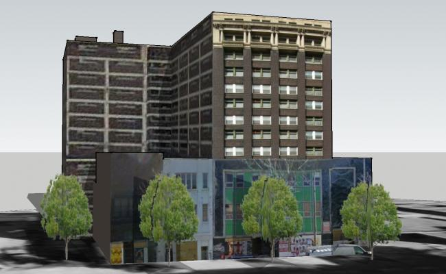 Corporate building in 3D