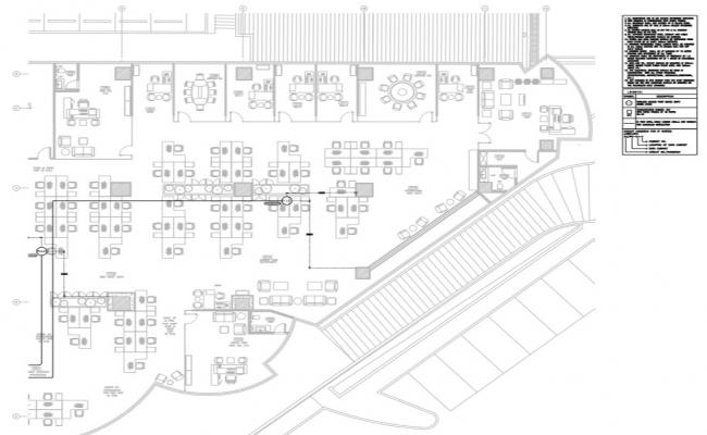 Corporate building plan detail view of a wireless access point.