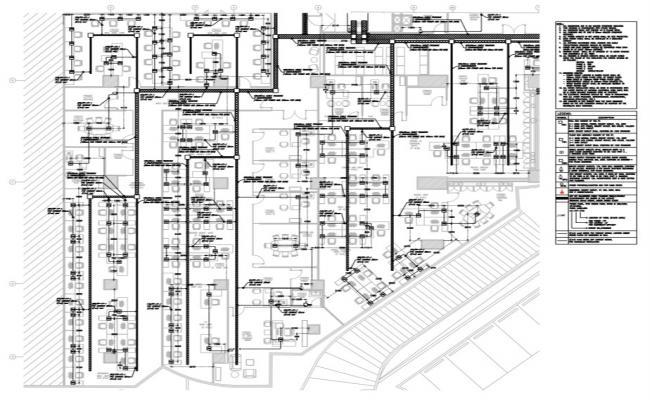Corporate building plan detail view pdf file,
