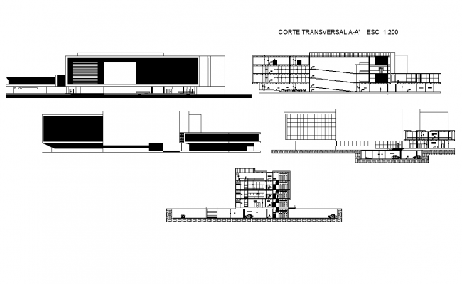 Corporate high rise building plan detail dwg file
