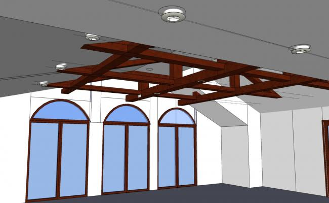 Corporate office 3d interior cad drawing details dwg file