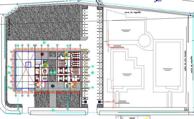 Corporate office building architecture layout plan details dwg file