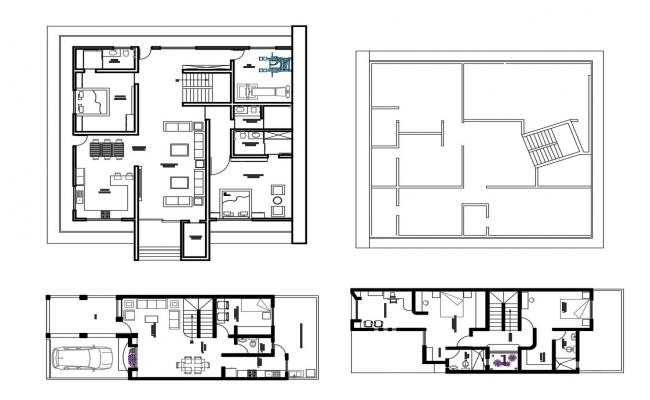 Corporate office departments layout plan cad drawing details dwg file