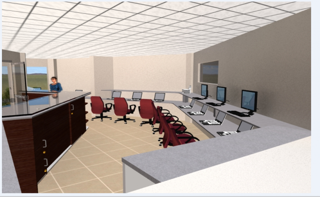 Corporate office desks indoor interior design details dwg file