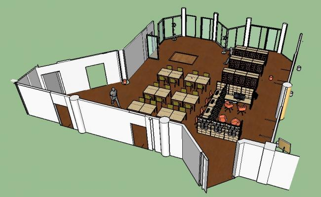 Corporate office floor 3d model cad drawing details dwg file