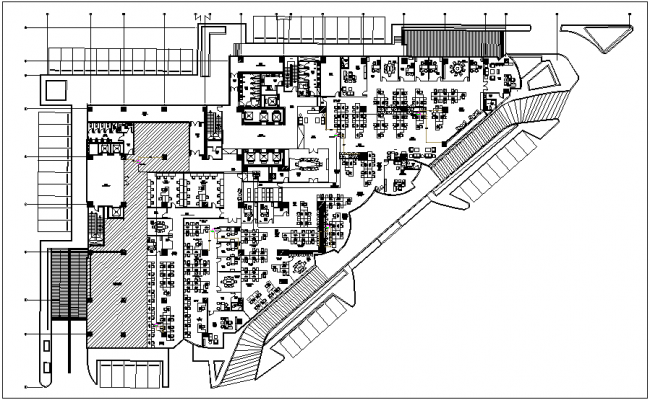 Corporate office plan with wap connection and its legend view dwg file