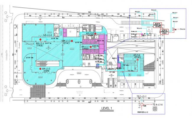 Corporate office tower plan detail pdf file.