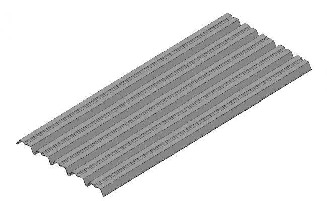 Corrugated roof dwg file