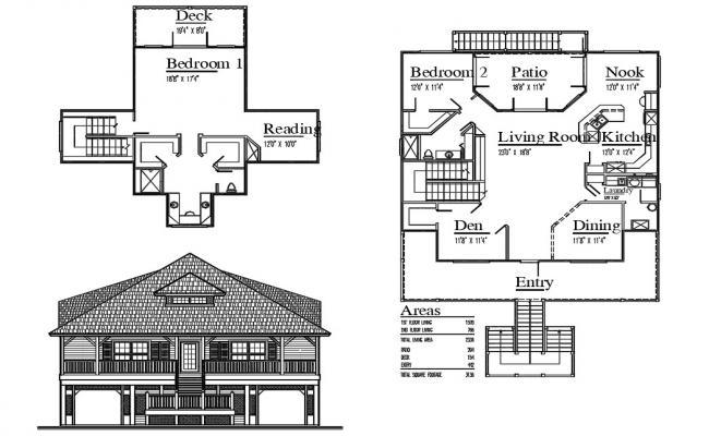 Cottage House Project AutoCAD File