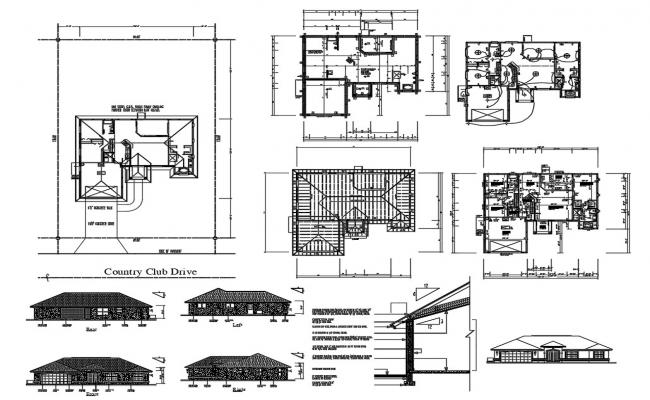 Country Club Drive Project AutoCAD File