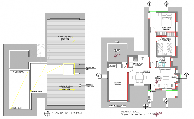 Country house plan layout file