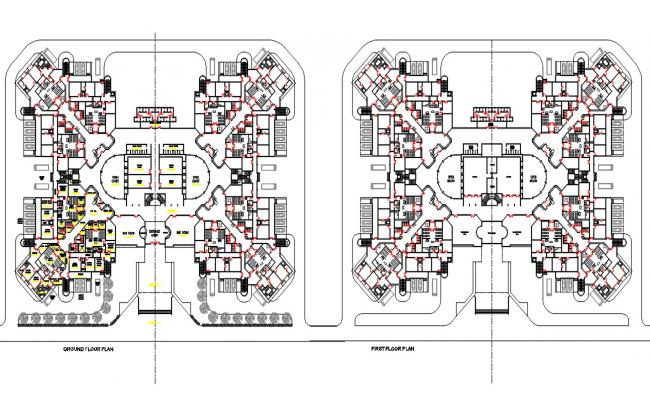 Court Building Plan AutoCAD File