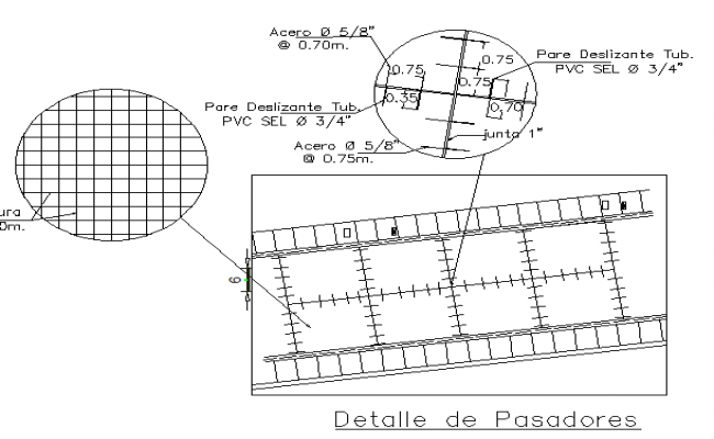 Court and details of pavement and ramps constructive details dwg file