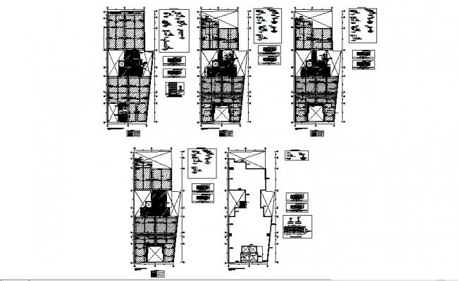 Cover and framing plan details of housing floors cad structure details dwg file