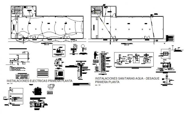 Cover plan, electrical installation details of house floor cad