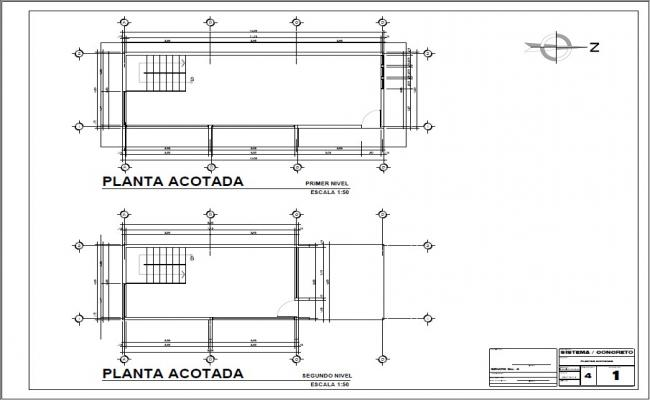 Cover plan details of both floors of house cad drawing details dwg file