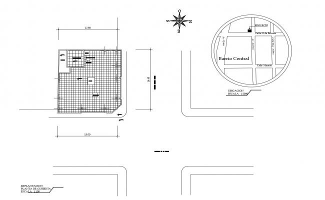 Cover plan of building in DWG file