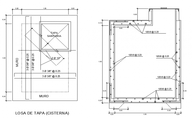 Cover slab reinforcement detail layout file