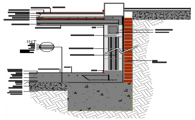Cracked basement wall design drawing