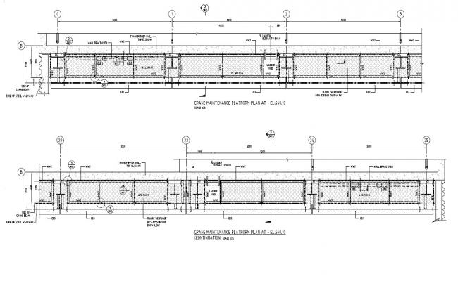 Crane Maintenance Platform  Plan With Dimension PDF File