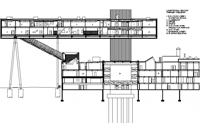 Crane section detail dwg file