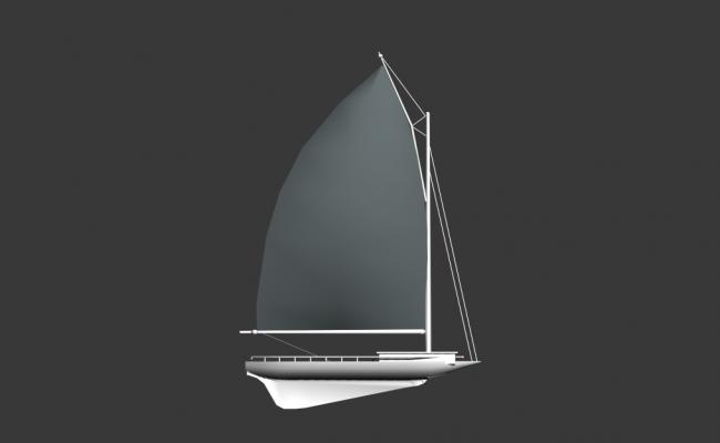 Creative 3d sail boat model cad drawing details max file