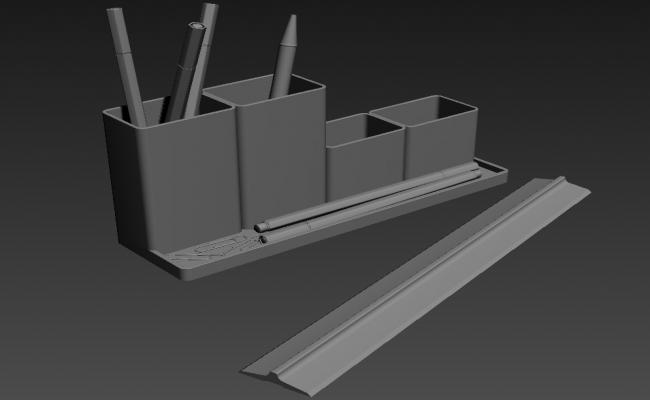 Creative Pen Stand  Design 3D MAX File Free